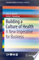 Building a Culture of Health Book