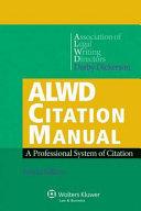 Alwd Citation Manual