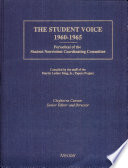 """The Student Voice, 1960-1965: Periodical of the Student Nonviolent Coordinating Committee"" by Clayborne Carson, Student Nonviolent Coordinating Committee (U.S.), Martin Luther King, Jr. Papers Project, Martin Luther King, Jr. Center for Nonviolent Social Change, Stanford University"