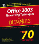 Office 2003 Timesaving Techniques For Dummies