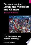 The Handbook of Language Variation and Change Book