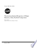 Thermomechanical response of shape memory alloy hybrid composites