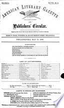 American Literary Gazette and Publishers  Circular Book PDF