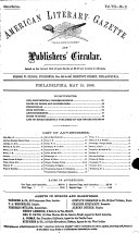 American Literary Gazette and Publishers  Circular