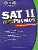 Kaplan SAT II Physics  2002 2003