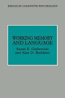 Working Memory and Language