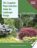 The Complete Plant Selection Guide for Landscape Design Book PDF
