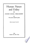 Human Nature and Utility in Hume's Social Philosophy