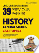 Indian History – 38 Previous Papers –CSAT Paper I – Civil Services Exam 1nd Edition