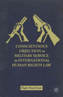 Conscientious Objection to Military Service in International Human Rights Law Pdf/ePub eBook