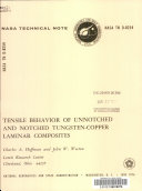 Tensile Behavior of Unnotched and Notched Tungsten copper Laminar Composites