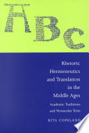 Rhetoric  Hermeneutics  And Translation In The Middle Ages