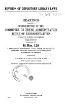 Revision of Depository Library Laws 85 1  1957