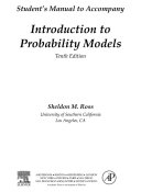 Introduction to Probability Models, Student Solutions Manual (e-only)