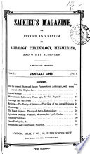 Zadkiel S Magazine Or Record And Review Of Astrology Phrenology Mesmerism And Other Sciences Ed By R J Morrison