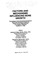 Factors And Mechanisms Influencing Bone Growth Book PDF