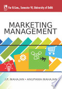 Marketing Management For B Com Sem 6 Delhi University  Book PDF