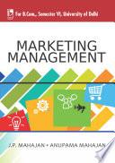 Marketing Management  For B Com  Sem 6  Delhi University