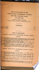 List of Bulletins of the Agricultural Experiment Stations in the United States from Their Establishment to the End of 1920