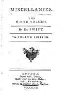 Miscellanies. The Fifth Ed., Corrected with Several Additional Pieces in Verse and Prose ebook