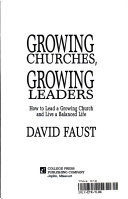 Growing Churches  Growing Leaders Book