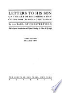 Letters to His Son on the Art of Becoming a Man of the World and a Gentlman