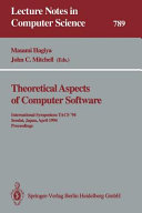 Theoretical Aspects of Computer Software
