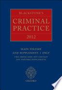 Blackstone S Criminal Practice 2012 Book Only