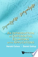 An Introduction To Differential Equations With Applications Book