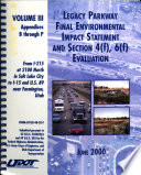 Legacy Parkway Project  Construction from I 215 at 2100 North in Salt Lake City to I 15 and US 89 Near Farmington