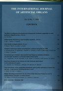 The International Journal of Artificial Organs