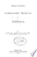 High School Laboratory Manual of Physics