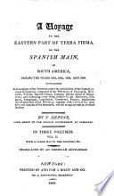 A Voyage to the Eastern Part of Terra Firma Book