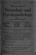 The Journal of Neurology and Psychopathology