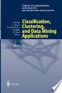 Classification  Clustering  and Data Mining Applications