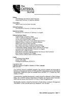 The CATESOL Journal - Band 19,Ausgabe 1 - Seite 87