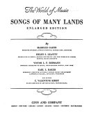 The world of music: Song of many lands