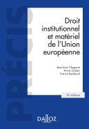 Pdf Droit institutionnel et matériel de l'Union européenne - 13e ed. Telecharger