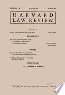 Harvard Law Review Volume 130 Number 5 March 2017