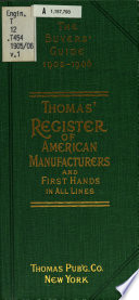 Thomas Register of American Manufacturers and Thomas Register Catalog File