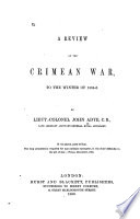 A Review of the Crimean War to the Winter of 1854 5 Book PDF
