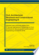 Civil  Architectural  Structural and Constructional Engineering III