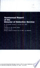 Semiannual Report of the Director of Selective Service