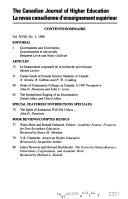 Journal Of Higher Education Canada