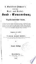 M. Gottfried Büchner's biblische Real- und Verbal-Hand-Concordanz, oder, Exegetisch-homiletisches Lexicon