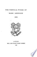 The Poetical Works of Mark Akenside  With the life of the author     Embellished with superb engravings including a portrait