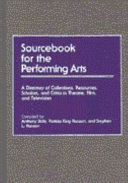 Sourcebook for the Performing Arts