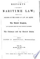 Reports of Cases Relating to Maritime Law Book