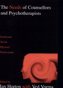 The Needs of Counsellors and Psychotherapists
