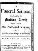 Pdf A funeral sermon [on Luke xii.40], occasioned by the sudden death of the reverend mr. Nathanael Vincent
